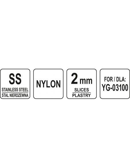TARCZA DO SZATKOWNICY DO WARZYW YG-03100 PLASTRY 2MM | Yato, YG-03140