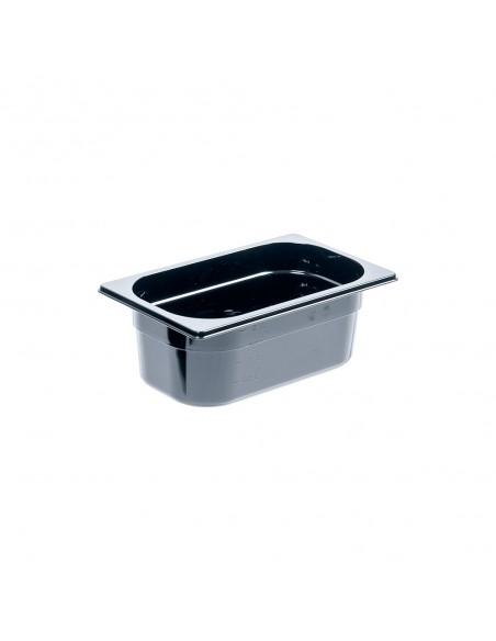 Pojemnik z poliwęglanu, czarny, GN 1/4, H 100 mm | Stalgast 154101