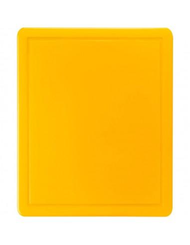 Deska do krojenia, żółta, HACCP, 600x400x18 mm | Stalgast 341633